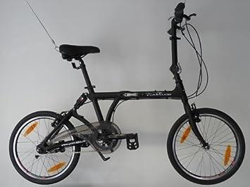 edelweiss S3 - Bicicleta Plegable - Bici Plegable Con Suspensión Neumática Negro Mate