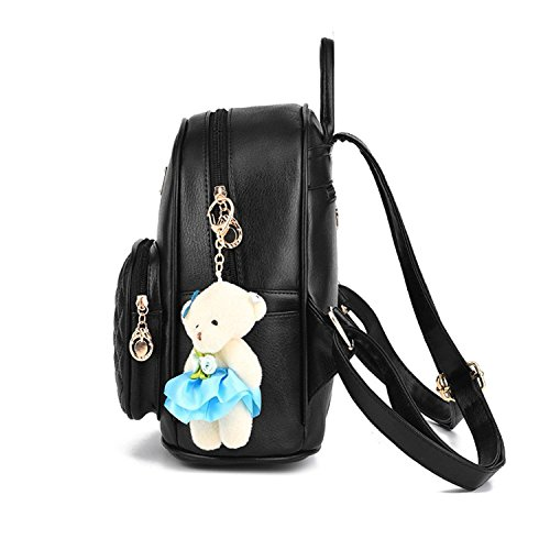 Pink Women Shopping Leather Cute for Backpack Laides Backpack Casual Travle Girls vpPwv4Sq
