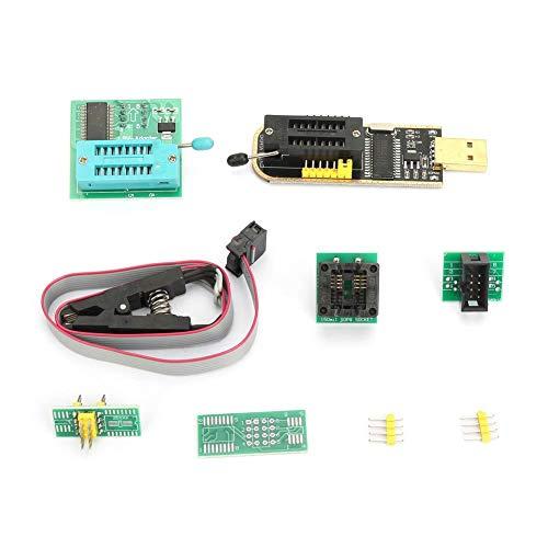 Nitrip CH341A USB Programmer + SOP8 Test Clip + 1.8V Adapter + SOP8 to DIP8 Converter Module