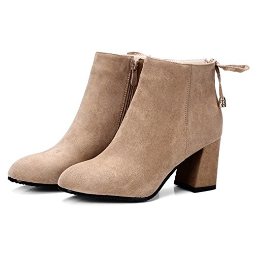 Extra Women Size Back Zipper KemeKiss Bootie apricot Fashion 4qBxwz