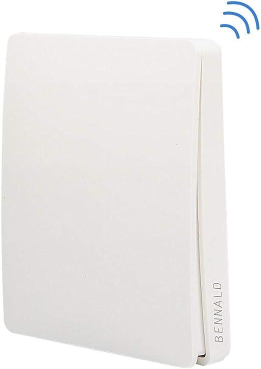 Funk Wand Schalter Sender Schalter An-Aus kabellos Innenbereich Doppelschalter