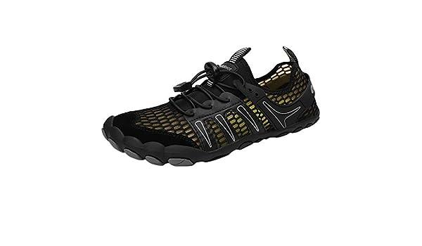 ZODOF zapatillas deportivas hombre Zapatos de agua Deportes Secado rápido Buceo Nadar Navegar Aqua Walking Surf Yoga Al aire libre running shoes(38.5 EU,Negro): Amazon.es: Bricolaje y herramientas