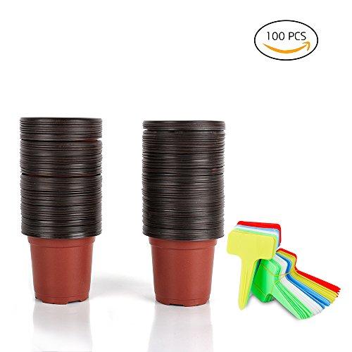 100 Pack Plastic Seedlings Nursery Waterproof product image