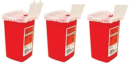 Kendall 8900SA Sharps Container Biohazard Needle Disposal 1 quart Size, 1 quarts (Pack of ()