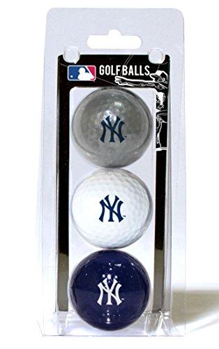MLB New York Yankees 3 Golf Ball Pack (New York Yankees Ball)