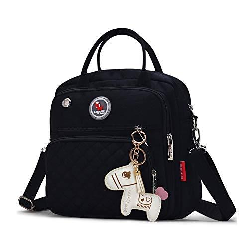 zaino piccola borsa a tracolla a tracolla donna Borsa con borsa nero LAGAFFE manico xw8a6EqaZ