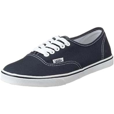 Womens Vans Authentic Lo Pro Plimsolls Low Top Skate Shoes Sneakers - Navy/True White - 6