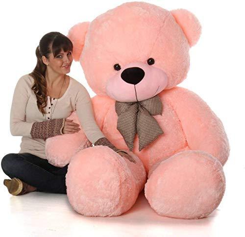Aleef 2 feet Red Happy Birthday Teddy with Pink Balloon Teddy Bear (3 feet, Pink)