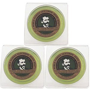 Col. Conk World's Famous Shaving Soap, Lime -- 3 Pack -- Each piece Net Weight 2.25 Oz by Colonel - Conk Shave Soap