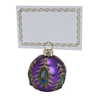 ABBOTT-Purple-Peacock-Placecard-Holders-set-of-6