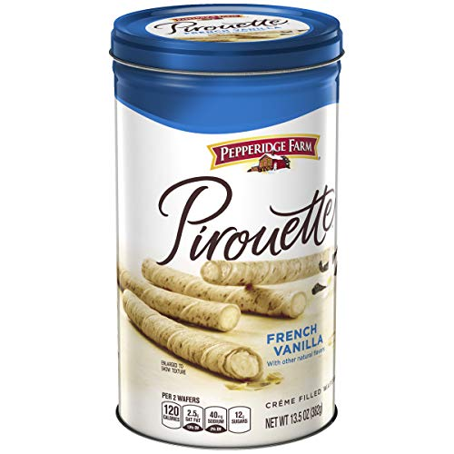 Pepperidge Farm, Pirouettes, Cookies, French Vanilla, 13.5 oz, Tin