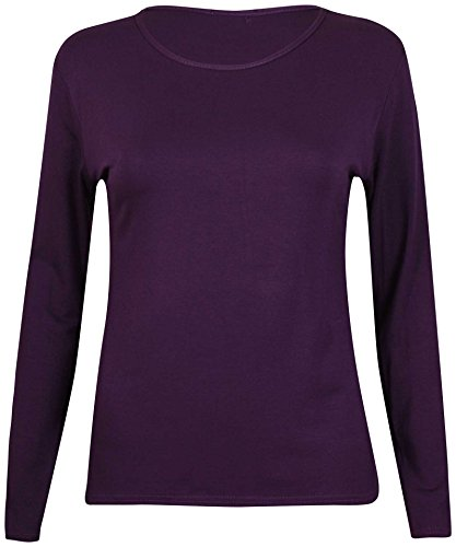 Signore Gildan A Lunghe shirt Purple Maniche Ringspun Softstyle T BBrwZ5
