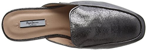 Pepe Jeans Women's Klimpt Tse Loafers Silver (Chrome 952) DzW7OIiL