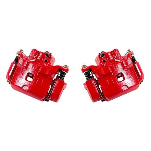CK01049 [ 2 ] FRONT Performance Grade Red Powder Coated Semi-Loaded Caliper Assembly Pair Set