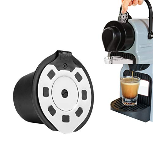 Gotian 5ml Plastic Coffee Filter Reusable Coffee Capsule Make for Nespresso Machine Model