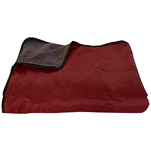 Fleece Nylon Blanket (Large Waterproof Windproof Camping Blanket - Maroon)