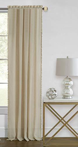 - Ben & Jonah PrimeHome Collection Wallace Rod Pocket Window Curtain Panel-52x63-Linen, Linen