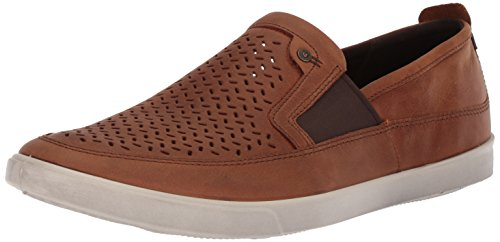 Ecco Mens Perforata Slip On Fashion Ambra Della Sneaker