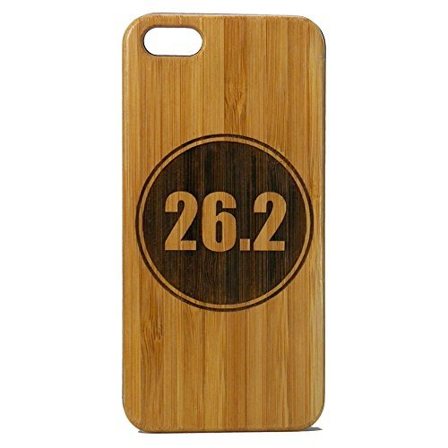 Marathon Runner iPhone 8 Case/Cover by iMakeTheCase | Eco-Friendly Bamboo Wood Cover | 26.2 Miles Running Run Race | Gift Motivation Inspiration.