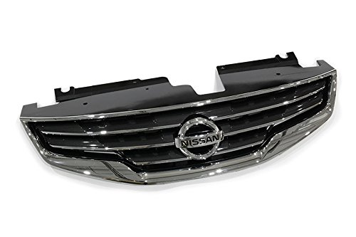 2010-2012 Nissan Altima Front Bumper Chrome Grille Grill Shell w/ Emblem OEM NEW