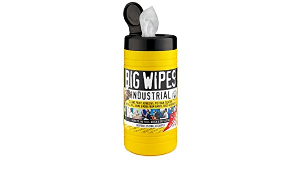Big Wipes Industrial 60020001 pre-moisten Heavy Duty paño limpiador, 12 cm de largo x 8