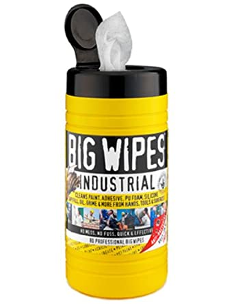 Big Wipes Industrial 60020001 pre-moisten Heavy Duty paño limpiador, 12 cm de largo