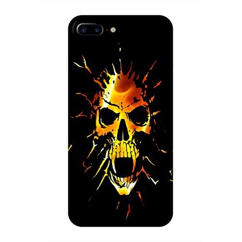 Coque Apple Iphone 7+ - Tête de mort vampire feu