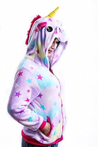 04f290c3908 AooToo Unicorn Hoodie Sweatshirt for Girls Juniors Kids Cartoon Costume  Jackets