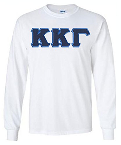 Kappa Kappa Gamma Lettered Long Sleeve Tee 2X-Large White