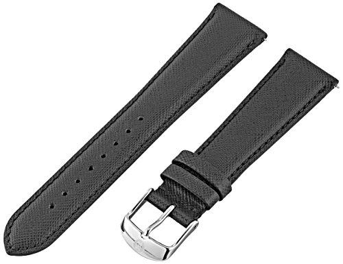 MICHELE MS16AA060018 16mm Leather Calfskin Black Watch Strap