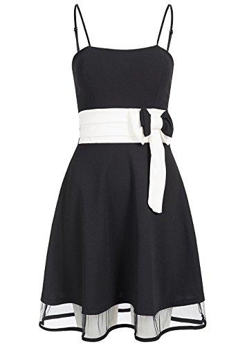 violet Fashion - Vestido - para mujer negro y blanco