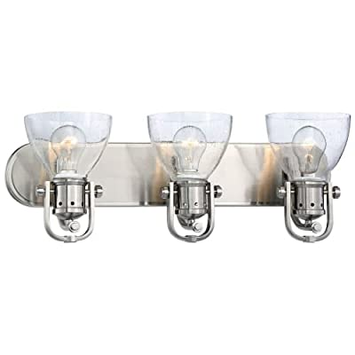 Minka Lavery 3413-84 3 Light Vanity Light from the Seeded Bath Art Collection,