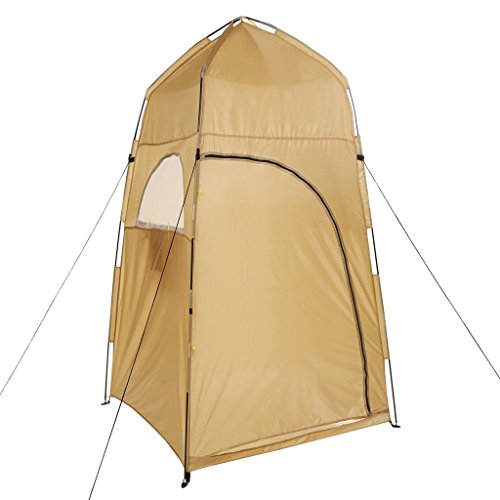 Kemanner Privacy Tent Outdoor Changing Room Portable Waterproof Shower Tents Camping Shower/Toilet with Carry Bag(US STOCK) (Yellow)