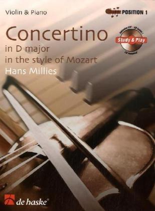 Concertino in D-Dur im Stil von Mozart. Concertino in D major in the style of Mozart, Violine u. Klavier, m. Audio-CD