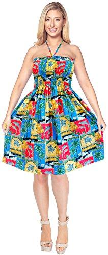 Falda de Midi de Maxi Superior de la de Mujer Vestido Traje baño Aloha Tirantes Rojo d361 Vestido Encubrir Tubo Ropa Playa para Halter qa4nxHOP
