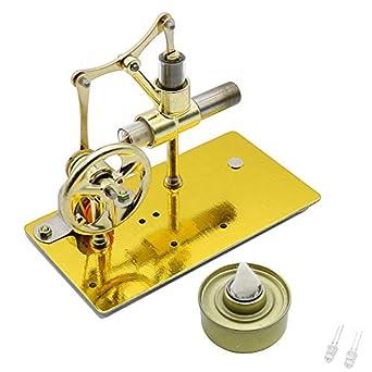 Mini motor de Stirling de aire caliente Modelo de motor Generador de electricidad Potencia de vapor Educativo Física Kit de experimentos Nuevo