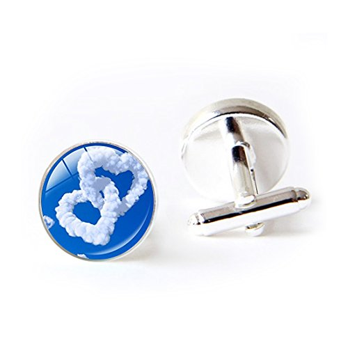 LooPoP Round Cufflink Set New Love Personalized Couple Cufflinks For Men's Accessories Shirts Business Wedding by LooPoP