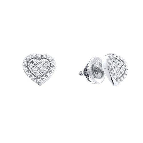 Tw Diamond Cluster Earrings - 9