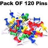 ShopCash Multi Color Push Pins, Board Pins, Notice Board Pins, Thumb Pin,Tacks & Pins Pack of 120 Pcs
