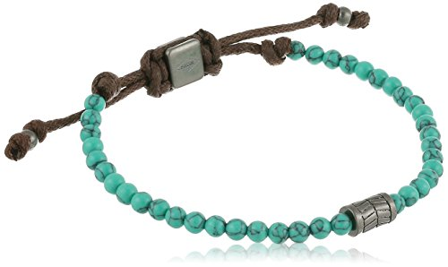 Fossil Vintage Casual Turquoise Beaded Bracelet