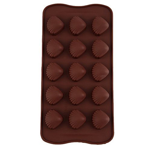 SuperStores Shell Pattern Silicone Mould Cake Decor Fondant Madeleine Mould Chocolate Candy Jelly Ice-cube Moulds DIY Baking (Normandy Shower Kit)