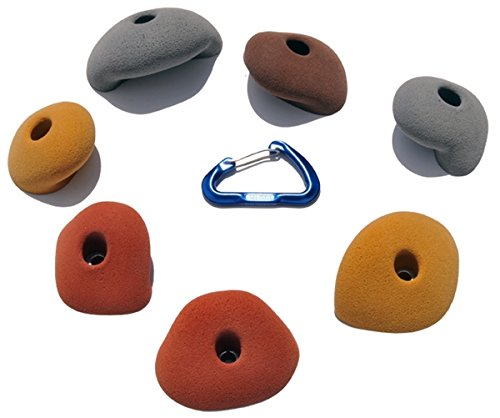 7 Large Simple Jugs | Climbing Holds |Mixed Earth Tones by Atomik Climbing Holds