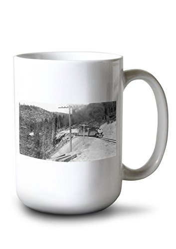 Marston, California - View of Western Pacific Fruit Express Train (15oz White Ceramic Mug) ()