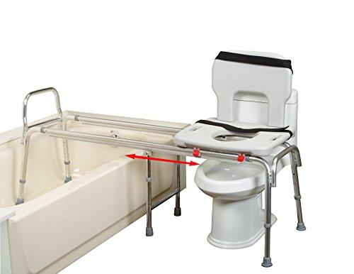Toilet-to-Tub Sliding Transfer Bench (67993) - XX Long (Base Length: 63.5' - 64.25') - Eagle Health Supplies