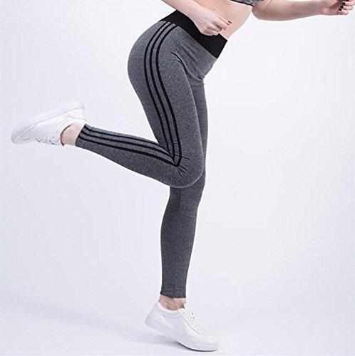 JIASHA Las mujeres absorben el sudor Power Flex Yoga pantalones nueve pantalones 17
