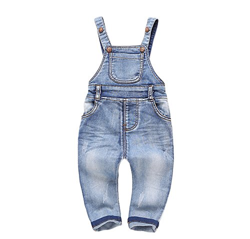 Baby Girl Overalls - Kidscool Baby & Little Boys/Girls Plaid Lining Denim Overalls Jeans
