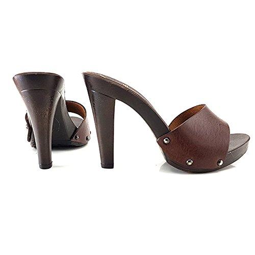 35 MY31 Cuir Femme Sabot shoes kiara BY0Oc1f