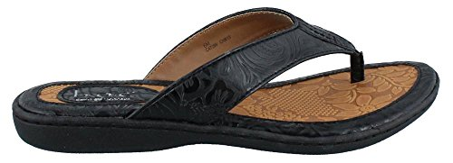 Women's BOC Born Concept, Zita Thong Sandal Black Tooled 8 M ()