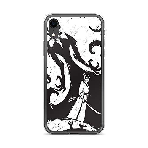 iPhone XR Case Anti-Scratch Animated Cartoon Transparent Cases Cover The Famous Samurai Everpestered Cartoons Caricature Crystal Clear
