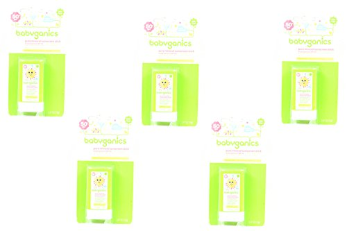 Set of 5 BabyGanics Pure Mineral Cover-Up Baby SPF 50 0.47 O